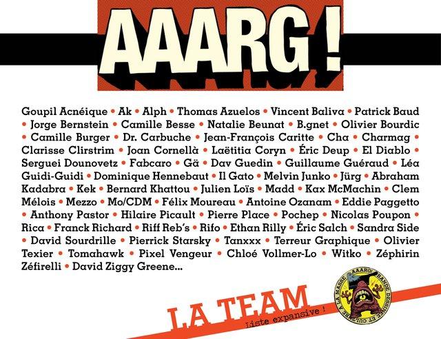 Liste des auteurs AAARG!