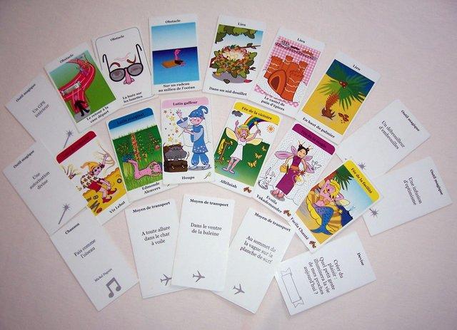 Exemples de cartes de jeu des Génies Créatifs