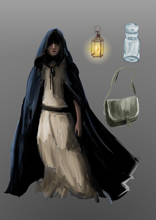 Concept du costume de la sorcière jouée par Marjolaine Bernard