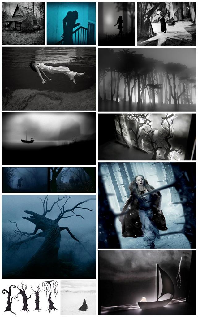 Moodboard du clip Buried Moon