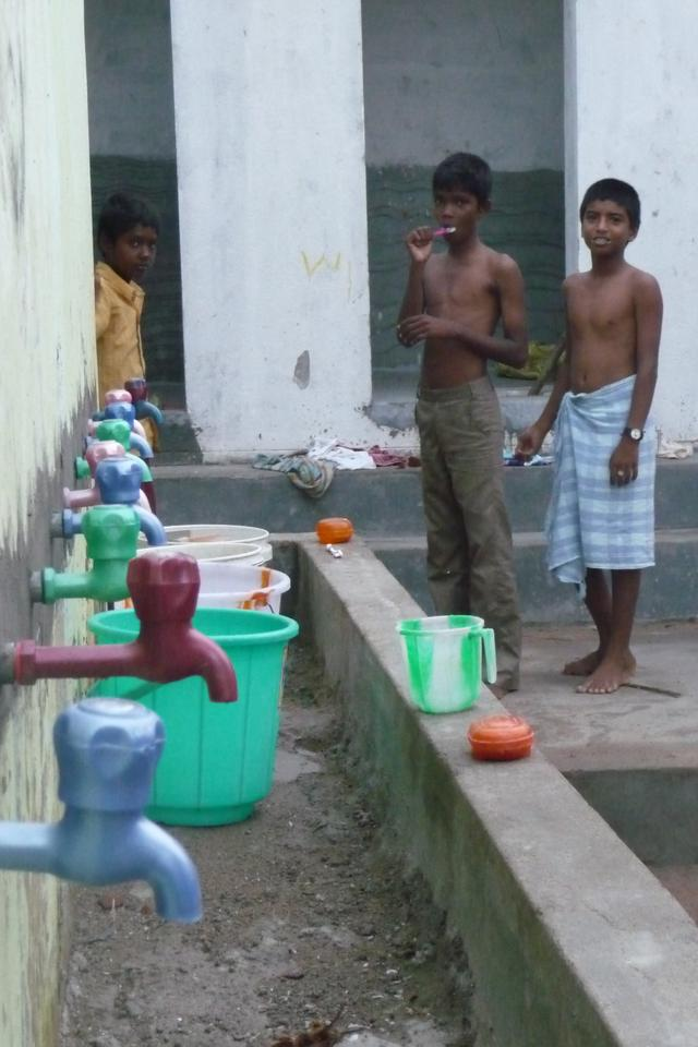 La salle de bain des garçons