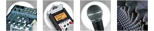 Matériel d'enregistrement audio