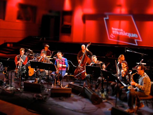 L'OrphiCube, lors de l'émission Jazz sur le Vif au studio Charles Trenet, enregistrée le 26 janvier 2013.