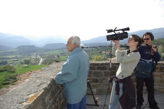 M. Bouihi au sommet de la tour carrée, lors du tournage