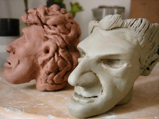 sculpture des personnages