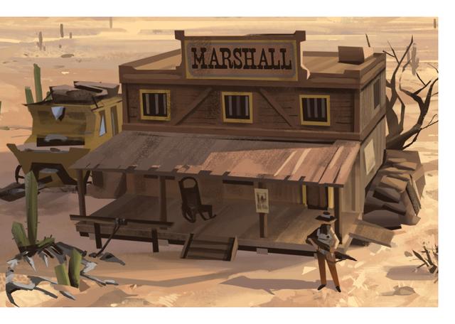 Western town ulule - Dessin saloon ...