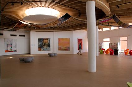 Salle d'exposition au Centre culturel Français de Ouagadougou