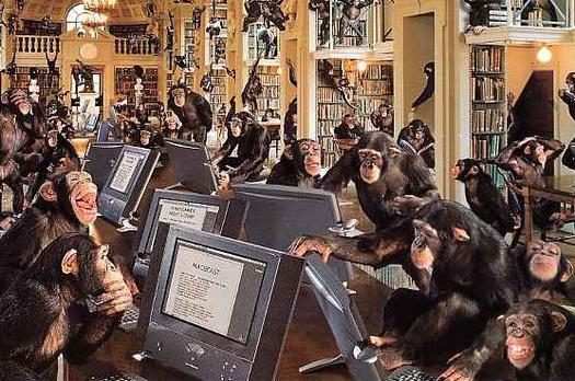 des ordinateurs et des chimpanzés
