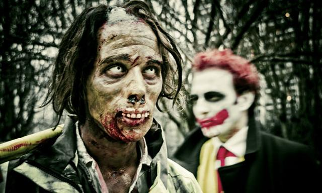 Zombie vs clown
