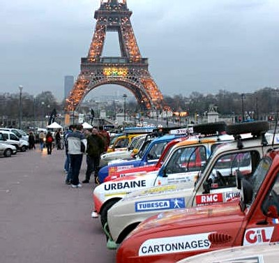 Le 4L Trophy à Paris