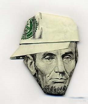 Art money Abraham Lincoln
