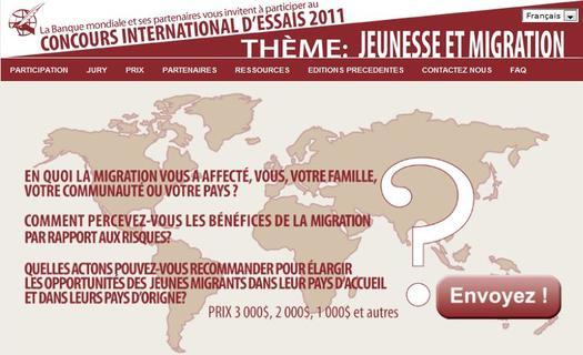 Concours international de dissertation pour la jeunesse 2011