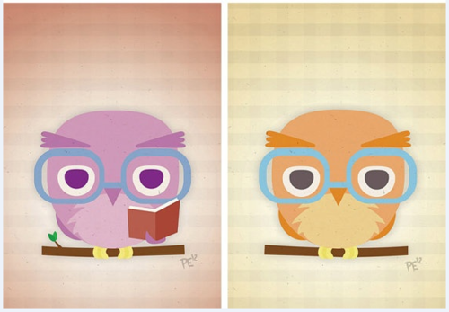 Image : Hipsters Owls by Pete Ellison
