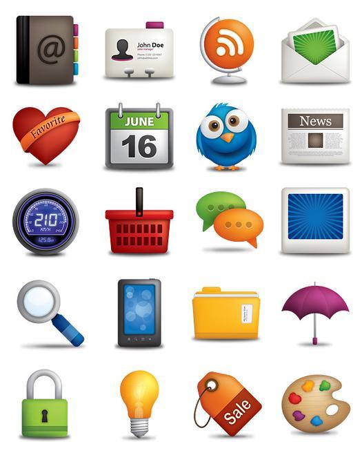 O trouver des icones pour le web ulule community - Telecharger icone bureau windows 7 ...
